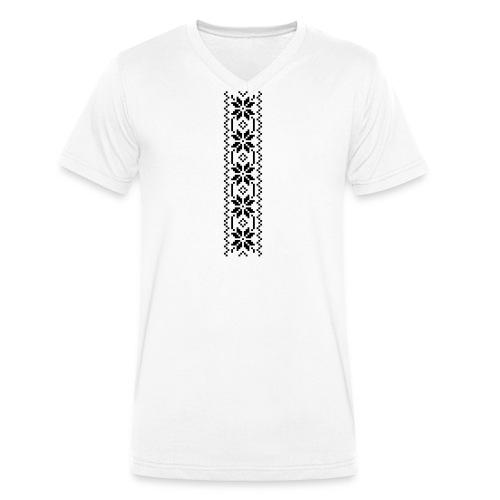 Selbu mønster 1-1 - Økologisk T-skjorte med V-hals for menn fra Stanley & Stella