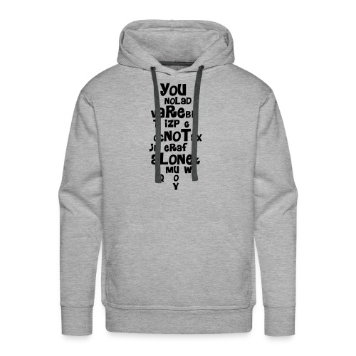 you are not alone - Men's Premium Hoodie