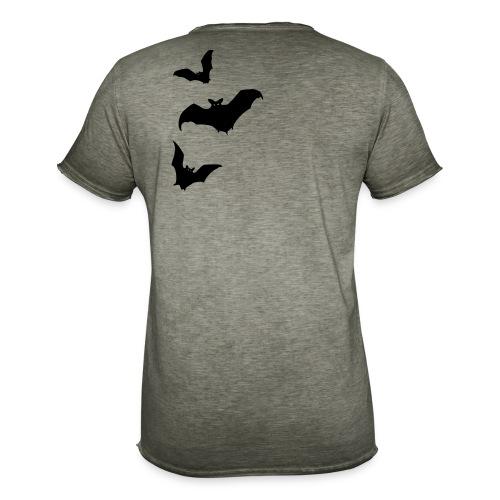 Bats - Rückenmotiv - Männer Vintage T-Shirt