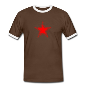 star distressed 2 - Men's Ringer Shirt