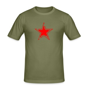 star distressed 2 - Men's Slim Fit T-Shirt