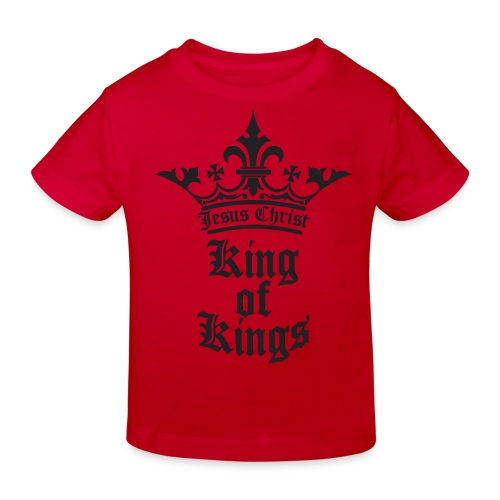 K.O.K.-red|white (Girls) - Kinder Bio-T-Shirt
