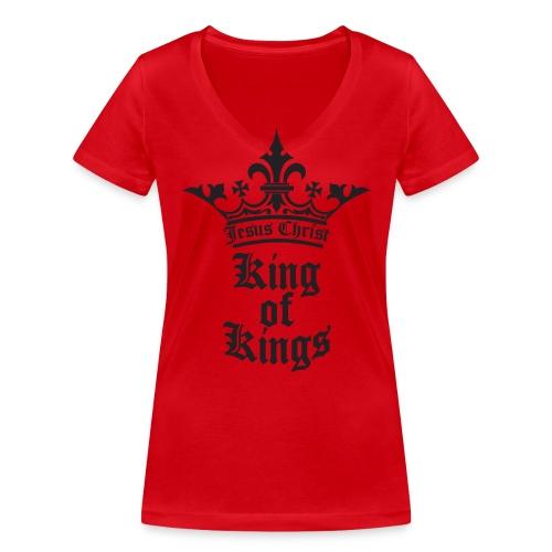 K.O.K.-red|white (Girls) - Frauen Bio-T-Shirt mit V-Ausschnitt von Stanley & Stella