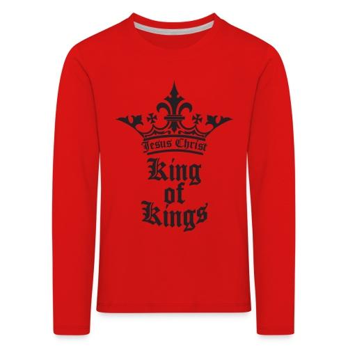 K.O.K.-red|white (Girls) - Kinder Premium Langarmshirt