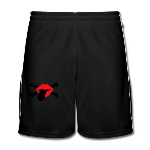 shirt dirty kiss skull style - Männer Fußball-Shorts