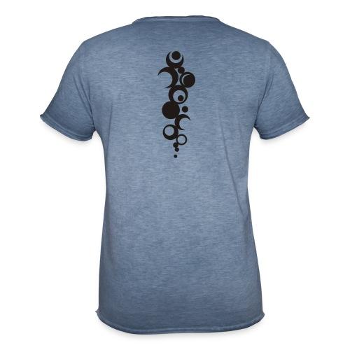 Ohne Ecken und Kanten - Rückenmotiv - Männer Vintage T-Shirt