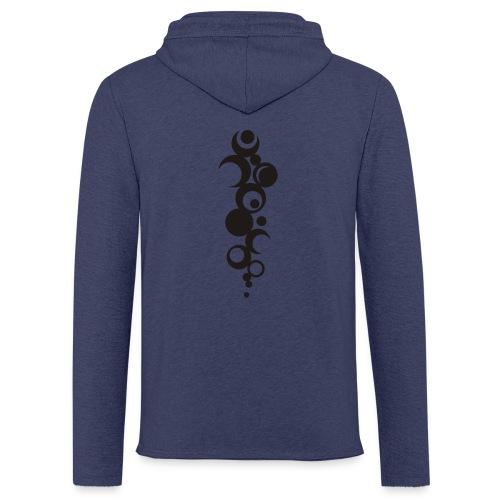 Ohne Ecken und Kanten - Rückenmotiv - Leichtes Kapuzensweatshirt Unisex