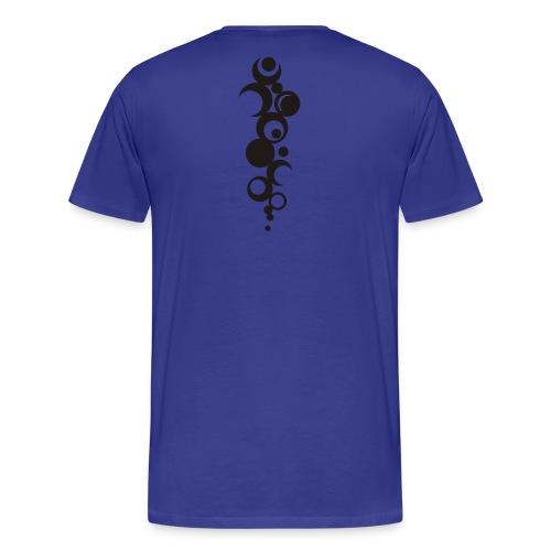 Ohne Ecken und Kanten - Rückenmotiv - Männer Premium T-Shirt