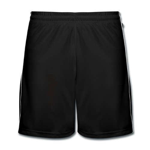 Ohne Ecken und Kanten - Rückenmotiv - Männer Fußball-Shorts