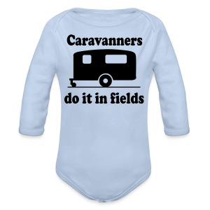 Caravanners do it in fields - Longlseeve Baby Bodysuit