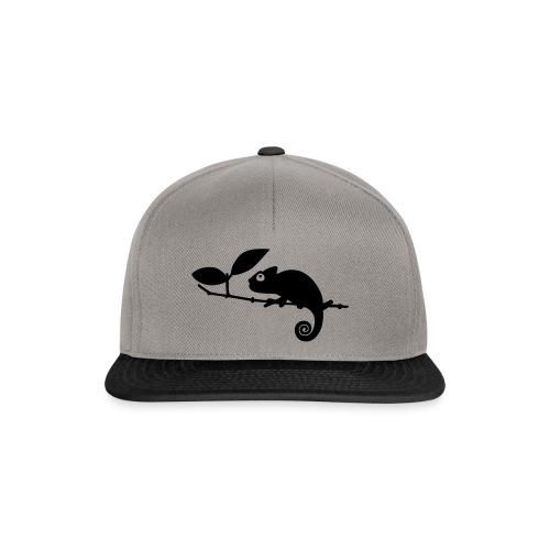 Chamäleon auf einem Ast - Snapback Cap