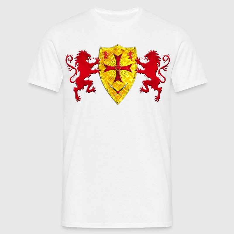Loewen Knights Templar shield coat of arms gold - Men's T-Shirt
