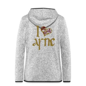 I Love ASNC Women's Shirt - Women's Hooded Fleece Jacket