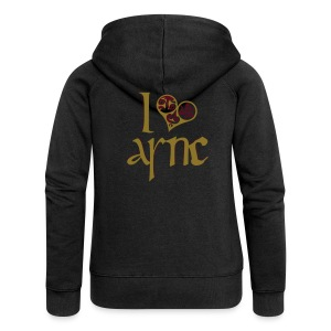 I Love ASNC Women's Shirt - Women's Premium Hooded Jacket