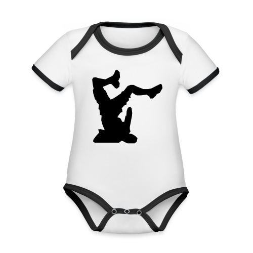 Faceplant - Organic Baby Contrasting Bodysuit