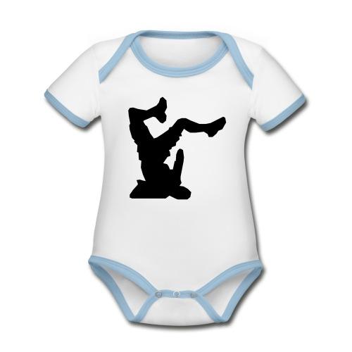 Faceplant - Organic Baby Contrasting Bodysuit