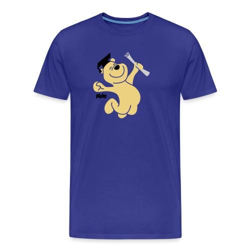 Diplombär,basic w blau - Männer Premium T-Shirt