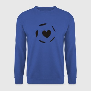 Bleu royal heartball T-shirts - Sweat-shirt Homme