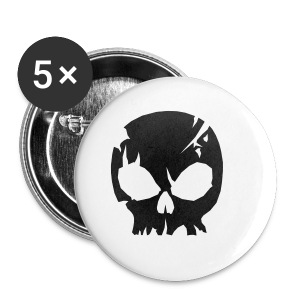 Cracked skull girl's T-shirt - Buttons small 25 mm