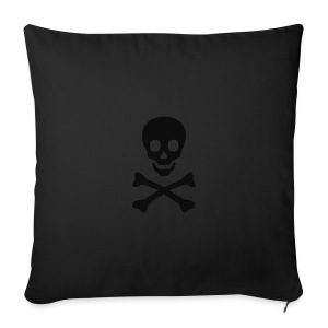 Girl's t-shirt with skull and bones - Sofa pillow cover 44 x 44 cm