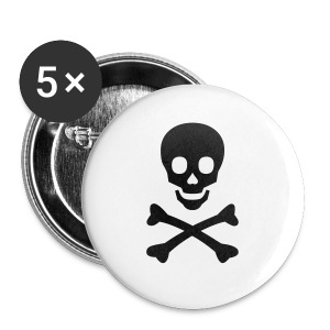 Girl's t-shirt with skull and bones - Buttons small 25 mm