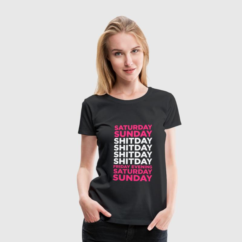 Black Shit Day (2c, NEU) Women's T-Shirts - Women's Premium T-Shirt