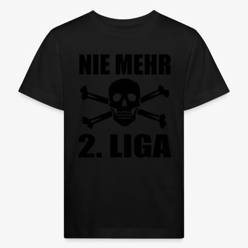 NIE MEHR 2. LIGA mit Totenkopf - Kinder Bio-T-Shirt