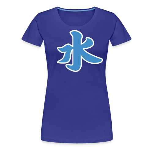 Water pictogram in Chinese - Women's Premium T-Shirt