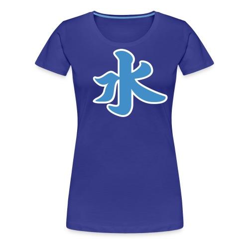 Water pictogram in Chinese - Women's Premium T-Shirt
