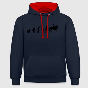 Divablau Horse Riding Evolution 1 (1c) T-Shirts - Kontrast-Hoodie