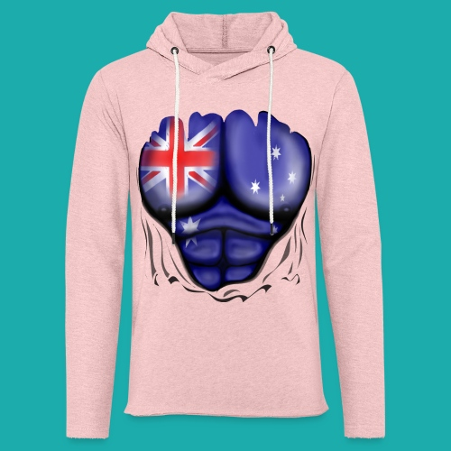 Australia Flag Ripped Muscles, six pack, chest t-shirt - Light Unisex Sweatshirt Hoodie