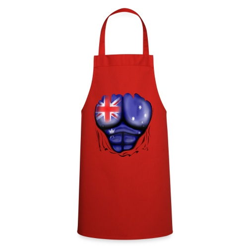 Australia Flag Ripped Muscles, six pack, chest t-shirt - Cooking Apron