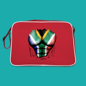 South Africa Flag Ripped Muscles, six pack, chest t-shirt - Retro Bag