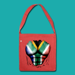 South Africa Flag Ripped Muscles, six pack, chest t-shirt - Shoulder Bag made from recycled material