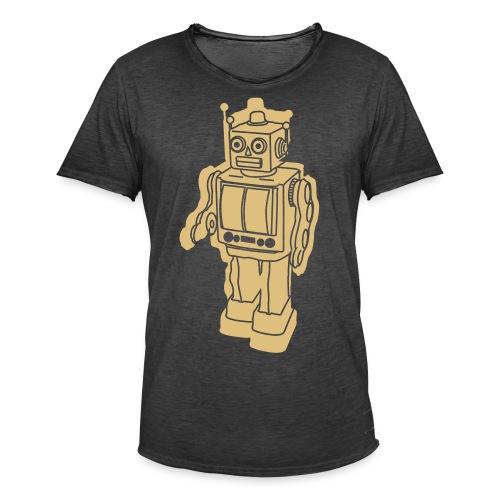 Robot Green - Maglietta vintage da uomo
