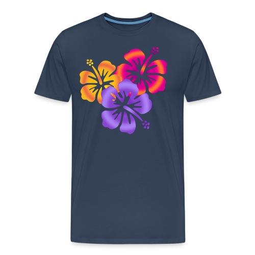 HIBISCUS DRILLING | Frauenshirt XXXL - Männer Premium T-Shirt