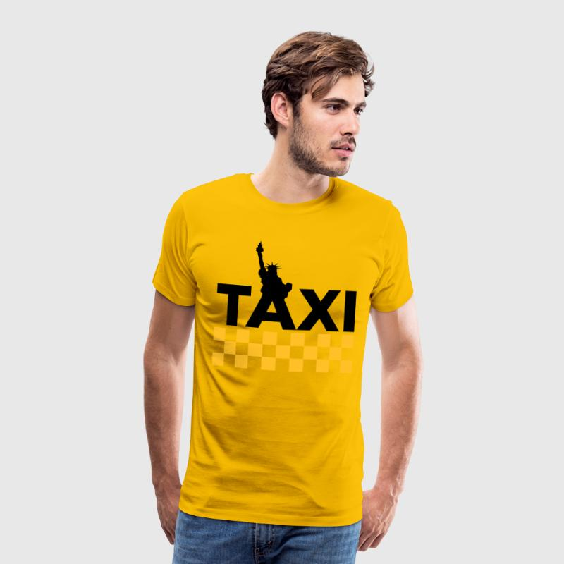 Yellow New York Taxi 1 (2c, NEU) Men's T-Shirts - Men's Premium T-Shirt
