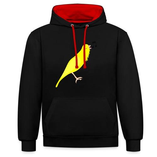 Zangkanarie - Contrast hoodie