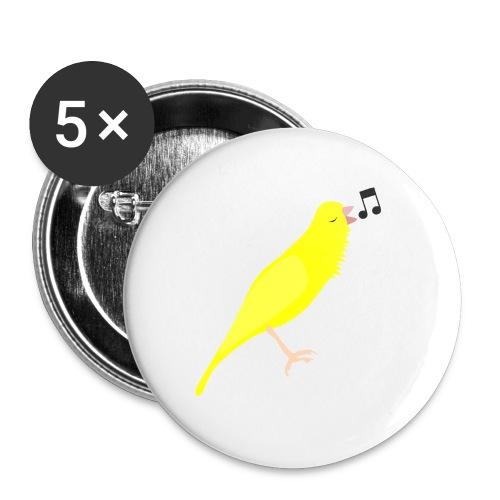 Zangkanarie - Buttons groot 56 mm