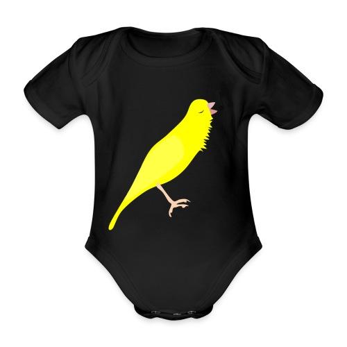 Zangkanarie - Baby bio-rompertje met korte mouwen