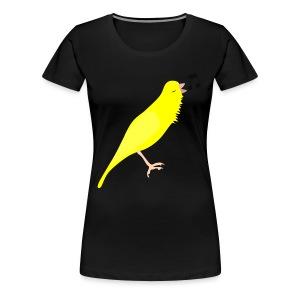 Zangkanarie - Vrouwen Premium T-shirt
