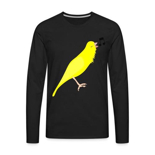 Zangkanarie - Mannen Premium shirt met lange mouwen