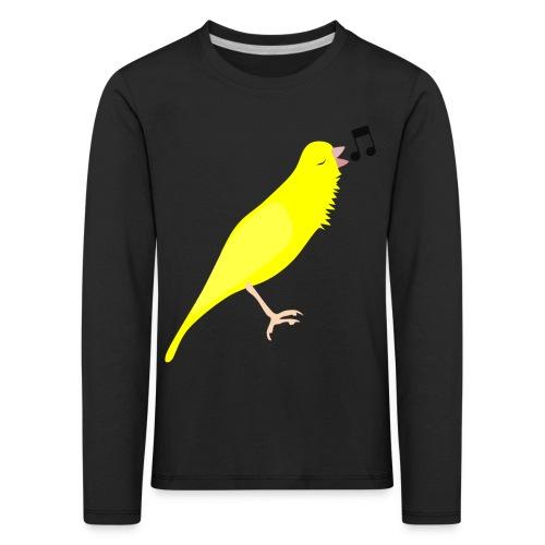 Zangkanarie - Kinderen Premium shirt met lange mouwen