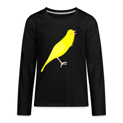 Zangkanarie - Teenager Premium shirt met lange mouwen
