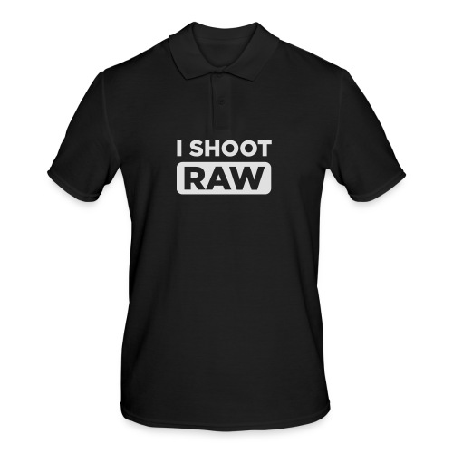 I SHOOT RAW - Männer Poloshirt