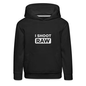 I SHOOT RAW - Kinder Premium Hoodie