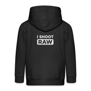 I SHOOT RAW - Kinder Premium Kapuzenjacke