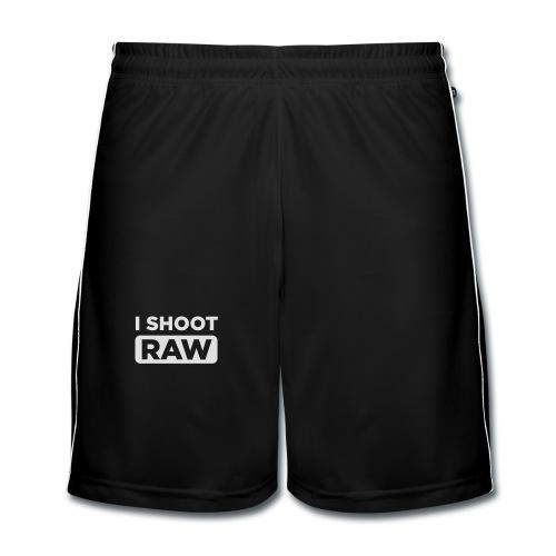 I SHOOT RAW - Männer Fußball-Shorts