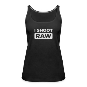 I SHOOT RAW - Frauen Premium Tank Top