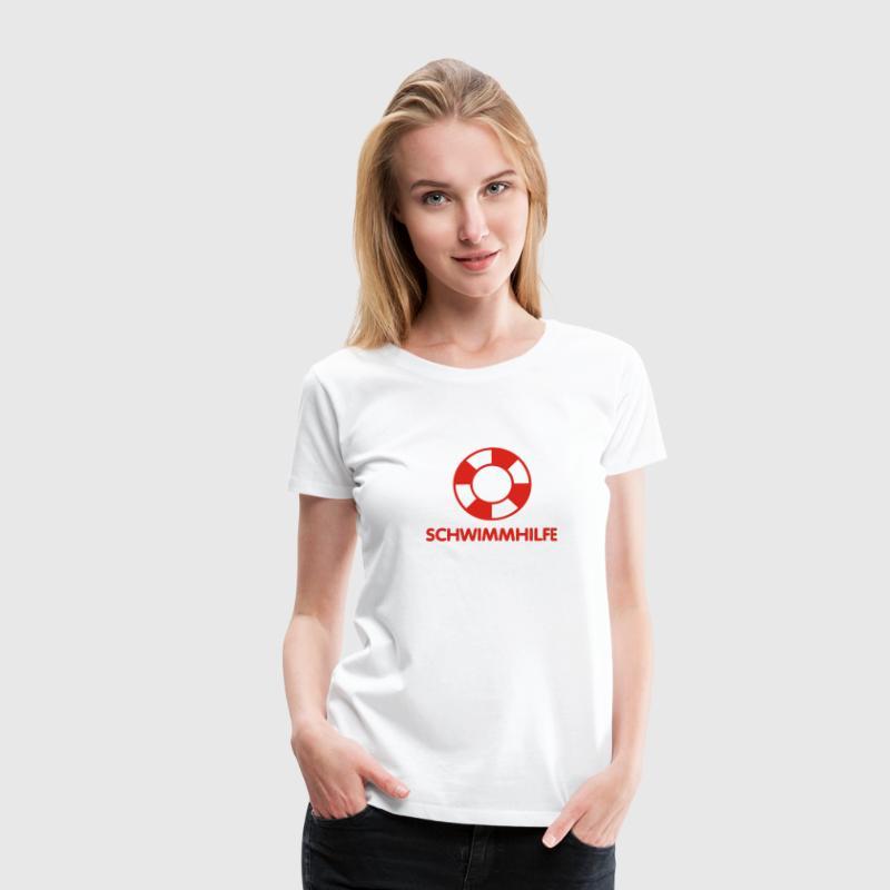 Schwimmhilfe   Rettungsring T-Shirts - Frauen Premium T-Shirt